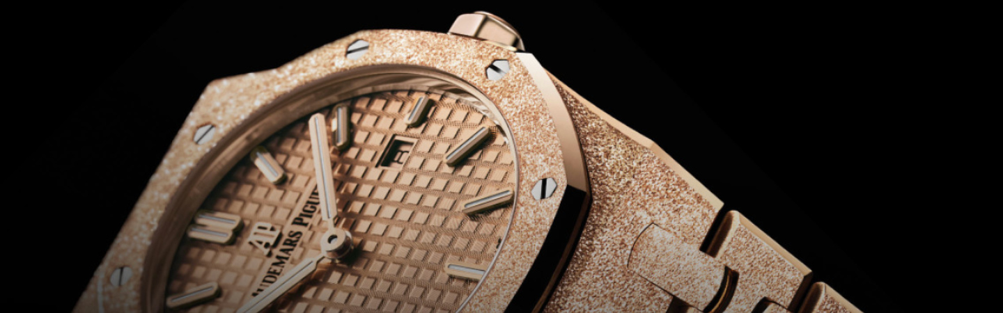 Sparks Your Wrist with Audemars Piguet Royal Oak Frosted Gold Quartz
