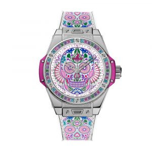 BIG BANG ONE CLICK CALAVERA CATRINA AUTOMATIC STAINLESS STEEL MULTI-COLOURED DIAL