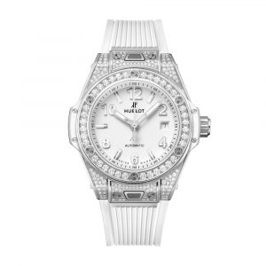 BIG BANG ONE CLICK STEEL WHITE PAVÉ